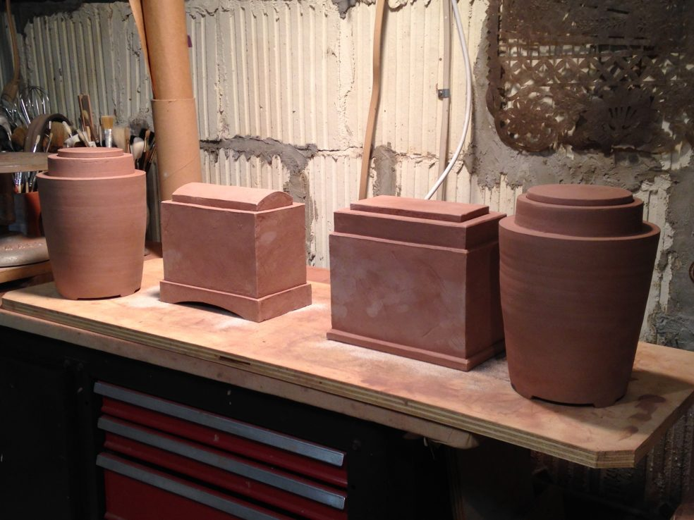 Photo of works ready for glazing
