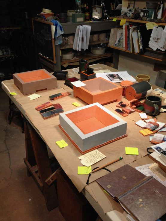 Photograph of work in studio