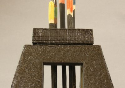 Sculpture of Benefits of Isolation, 18 x 8 1/2 x 8 1/2(Detail)