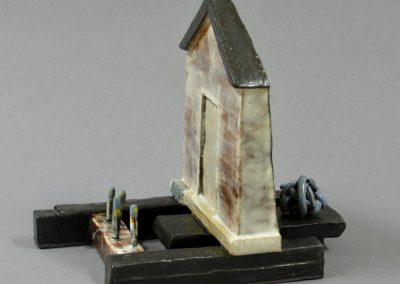 Ceramic Fabrication by William Bowser called Outside/Inside, Garden and Snakeball, ceramic, 6 x 4 x 6 1/2