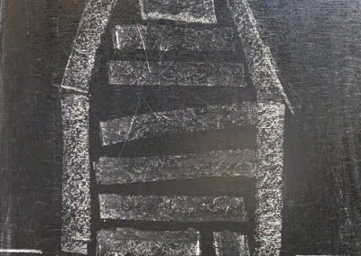 Drawing by William Bowser titled chalk on chalk-board, 10 x 7 1/2